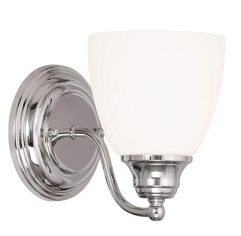 Livex Lighting 13671 Somerville 1 Light Wall Sconce Chrome Indoor