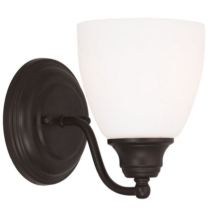 Livex Lighting 13671 Somerville 1 Light Wall Sconce Bronze Indoor Sale $59.90 ITEM: bci2545409 ID#:13671-07 UPC: 847284043602 :
