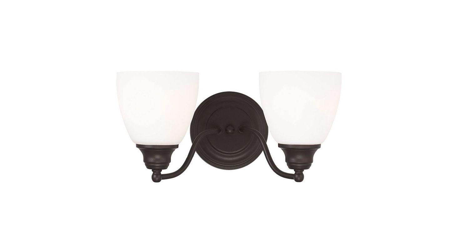 Livex Lighting 13672 Somerville 2 Light Bathroom Vanity Light Bronze