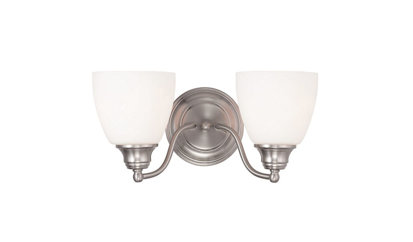 Livex Lighting 13672 Somerville 2 Light Bathroom Vanity Light Brushed