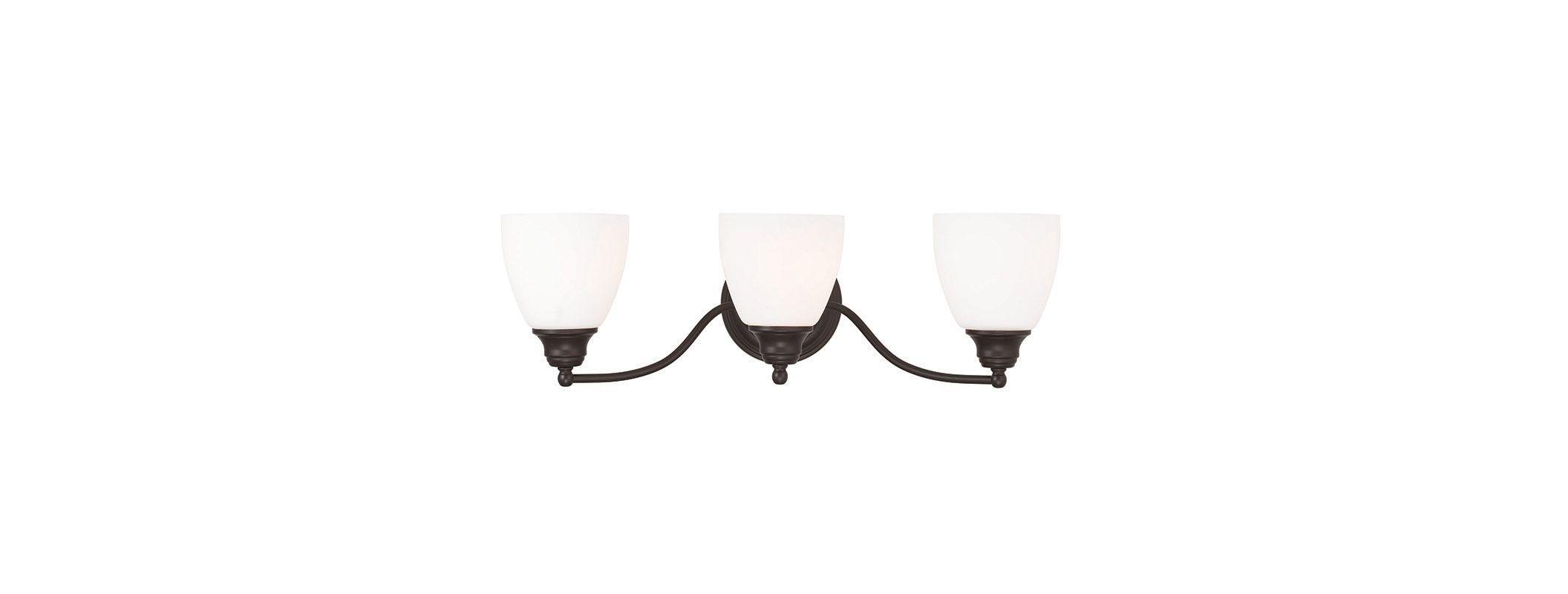 Livex Lighting 13673 Somerville 3 Light Bathroom Vanity Light Bronze