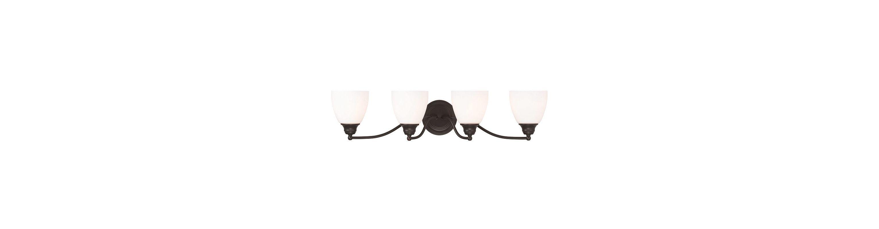 Livex Lighting 13674 Somerville 4 Light Bathroom Vanity Light Bronze