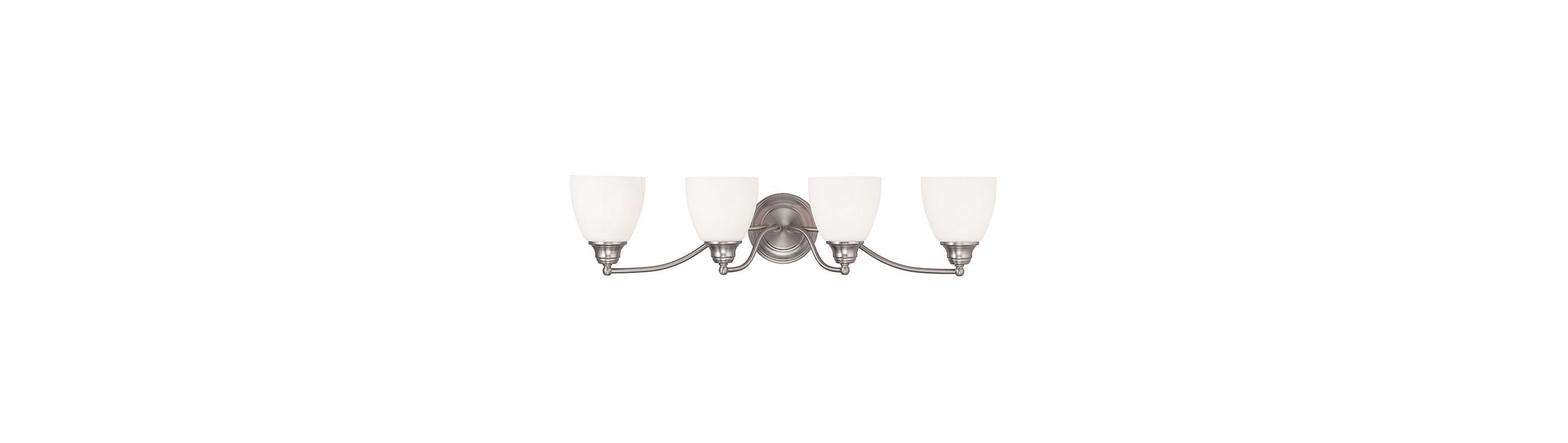 Livex Lighting 13674 Somerville 4 Light Bathroom Vanity Light Brushed