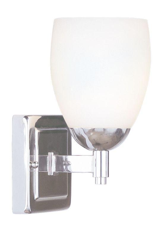Livex Lighting 1401 Bloomfield 1 Light Bathroom Vanity Light Polished