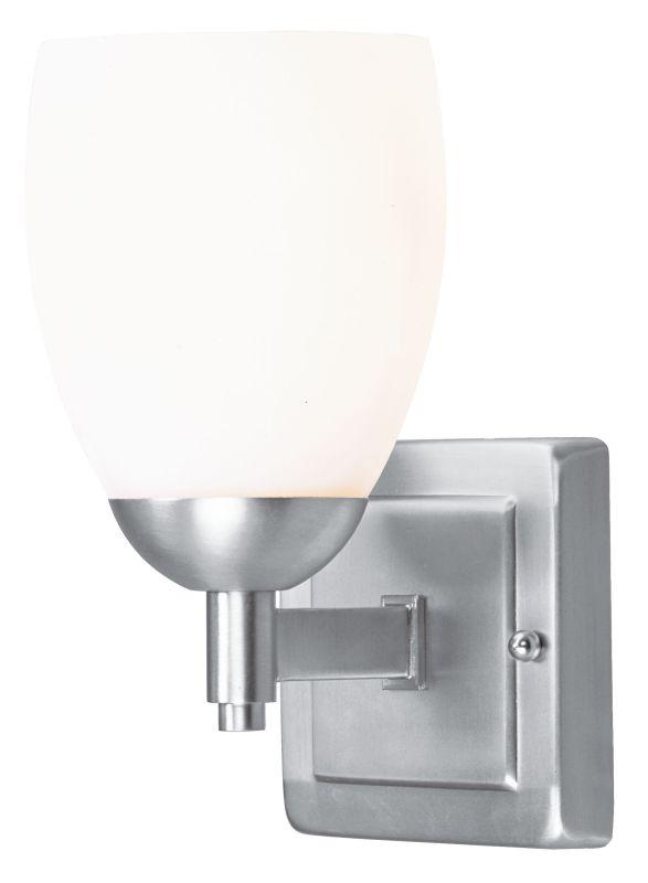 Livex Lighting 1401 Bloomfield 1 Light Bathroom Vanity Light Brushed