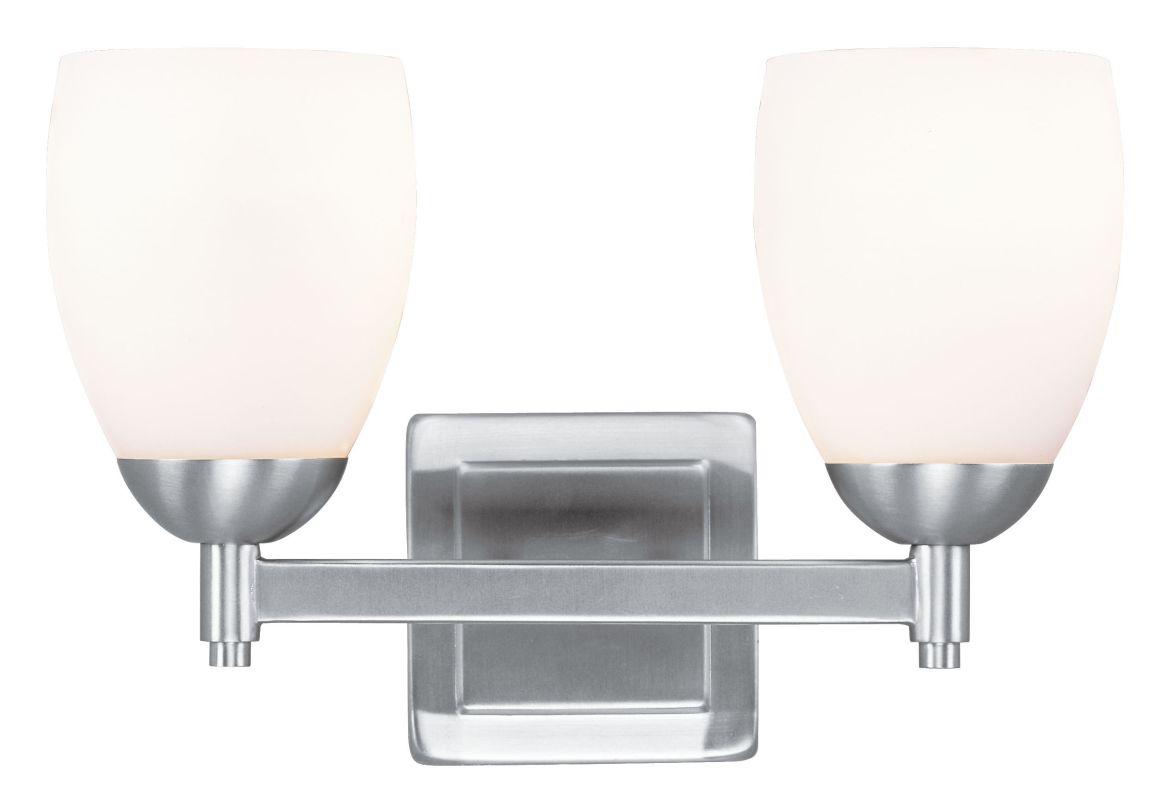 Livex Lighting 1402 Bloomfield 2 Light Bathroom Vanity Light Brushed