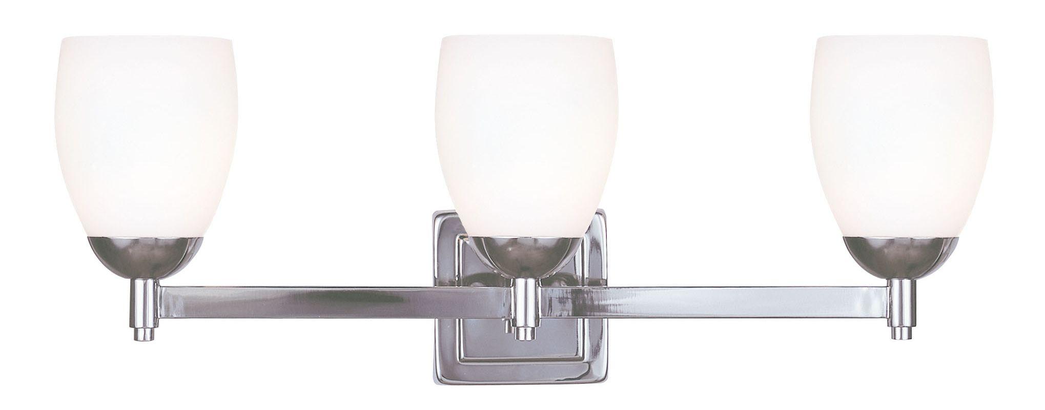 Livex Lighting 1403 Bloomfield 3 Light Bathroom Vanity Light Polished