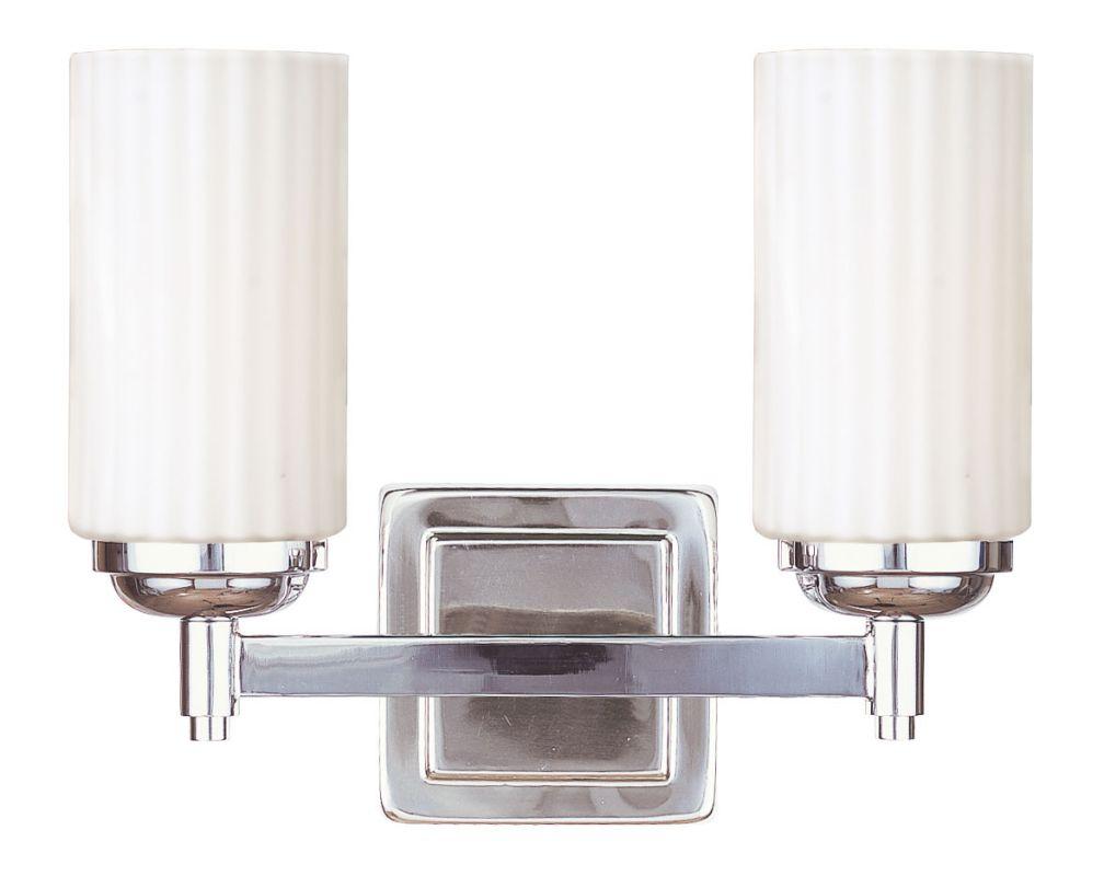 Livex Lighting 1422 Madison 2 Light Bathroom Vanity Light Polished Sale $69.98 ITEM: bci2307417 ID#:1422-35 UPC: 847284014503 :