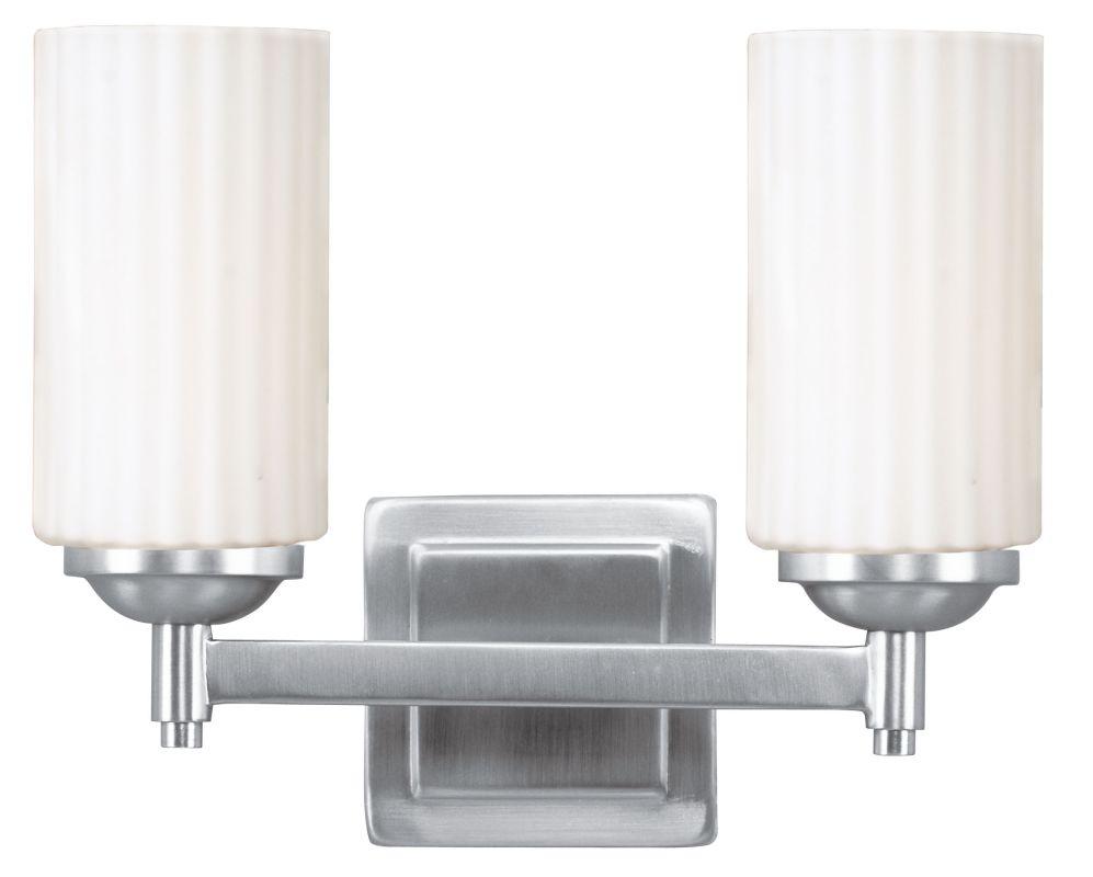 Livex 2 Light Bathroom Vanity Lighting Fixture Brushed: Livex Lighting 1422-91 Brushed Nickel Madison 2 Light