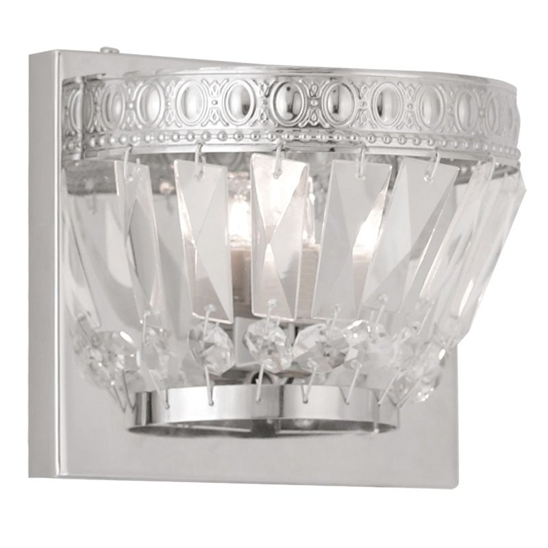 Livex Lighting 1631 Chromata 1 Light Bathroom Sconce Chrome Indoor