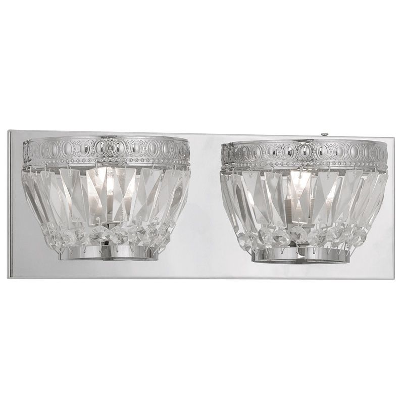 Livex Lighting 1632 Chromata 2 Light Bathroom Vanity Light Chrome
