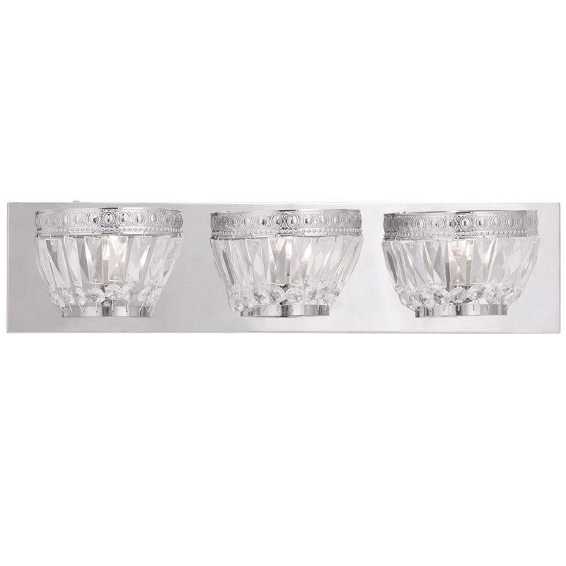 Livex Lighting 1633 Chromata 3 Light Bathroom Vanity Light Chrome