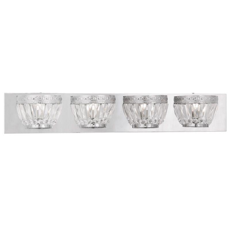 Livex Lighting 1634 Chromata 4 Light Bathroom Vanity Light Chrome