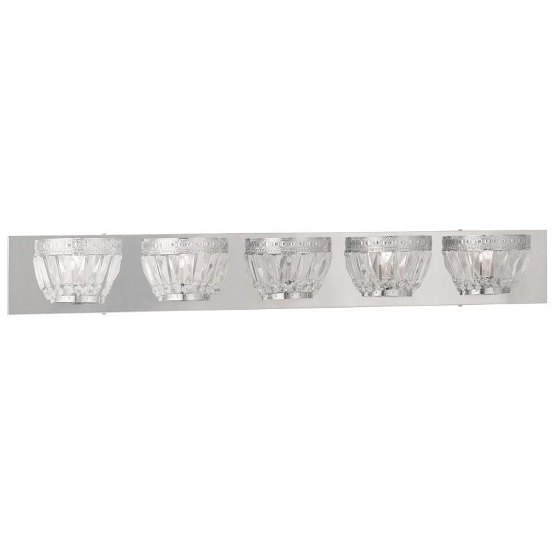 Livex Lighting 1635 Chromata 5 Light Bathroom Vanity Light Chrome