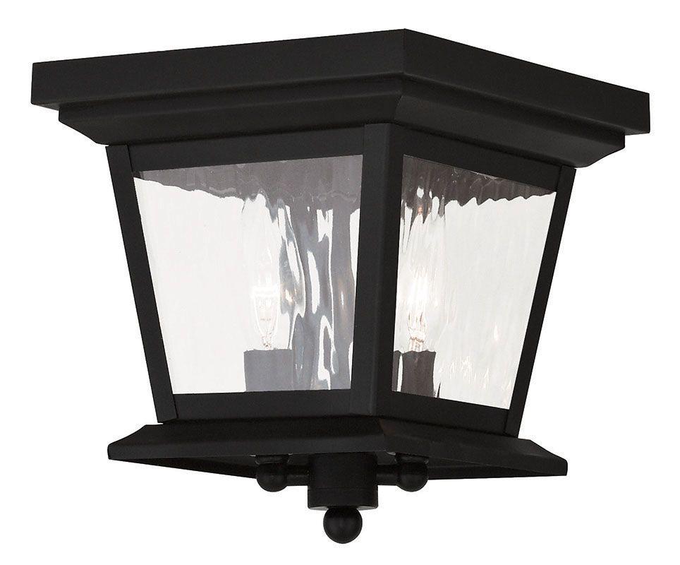Livex Lighting 20230 Hathaway 2 Light Outdoor Flush Mount Ceiling
