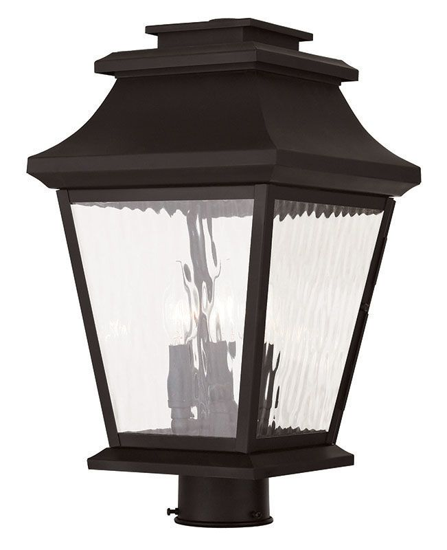 Livex Lighting 20238 Hathaway 3 Light Lantern Outdoor Post Light Sale $539.90 ITEM: bci2545469 ID#:20238-07 UPC: 847284042551 :