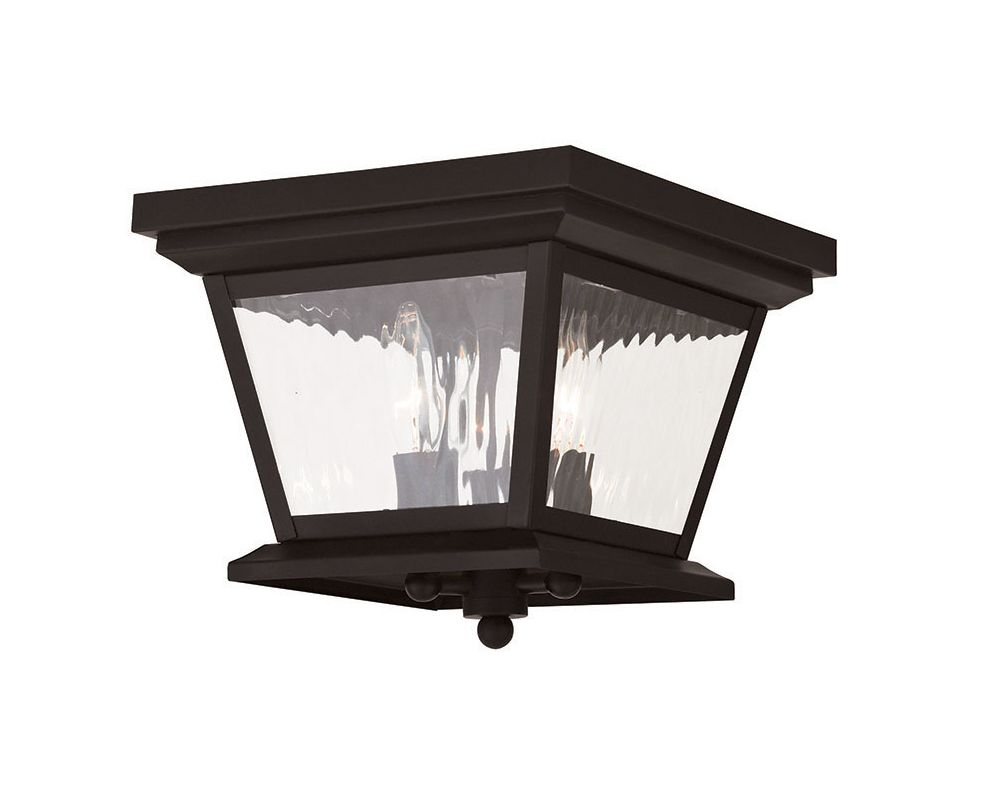 Livex Lighting 20239 Hathaway 3 Light Outdoor Flush Mount Ceiling Sale $299.90 ITEM: bci2545471 ID#:20239-07 UPC: 847284042575 :