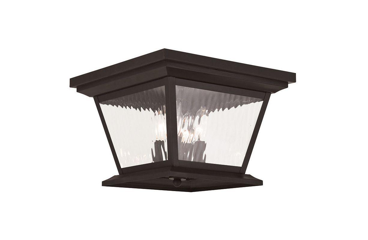 Livex Lighting 20249 Hathaway 4 Light Outdoor Flush Mount Ceiling Sale $399.90 ITEM: bci2545485 ID#:20249-07 UPC: 847284042711 :