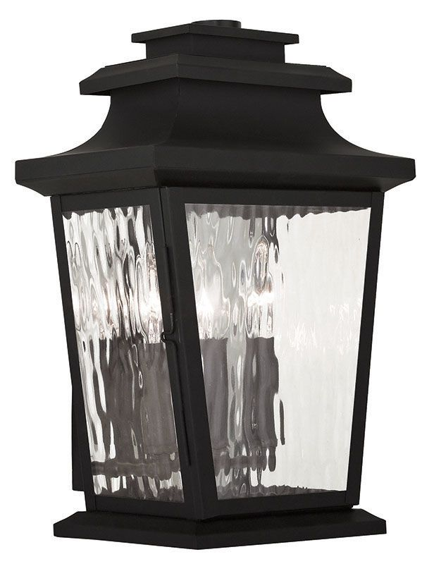 Livex Lighting 20257 Hathaway 3 Light Outdoor Lantern Wall Sconce Sale $399.90 ITEM: bci2545496 ID#:20257-04 UPC: 847284042827 :