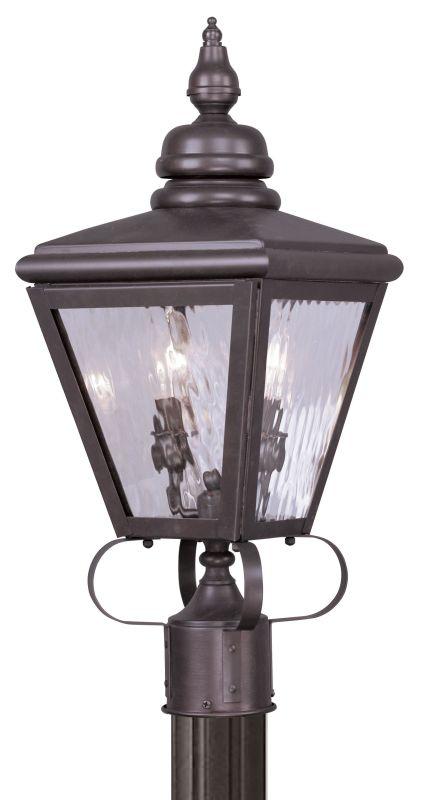 Livex Lighting 2032 Cambridge 2 Light Outdoor Post Light Bronze