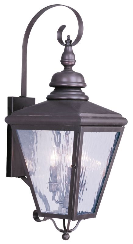 Livex Lighting 2033 Cambridge 3 Light Outdoor Wall Sconce Bronze