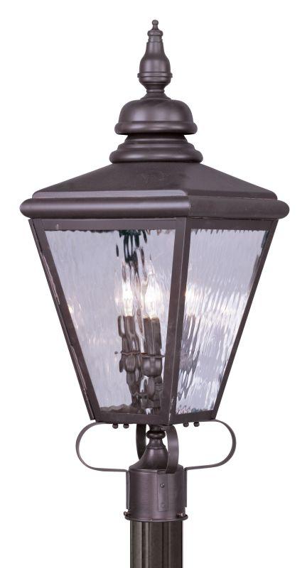 Livex Lighting 2034 Cambridge 3 Light Outdoor Post Light Bronze