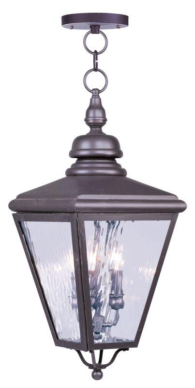 Livex Lighting 2035 Cambridge 3 Light Outdoor Pendant Bronze Outdoor