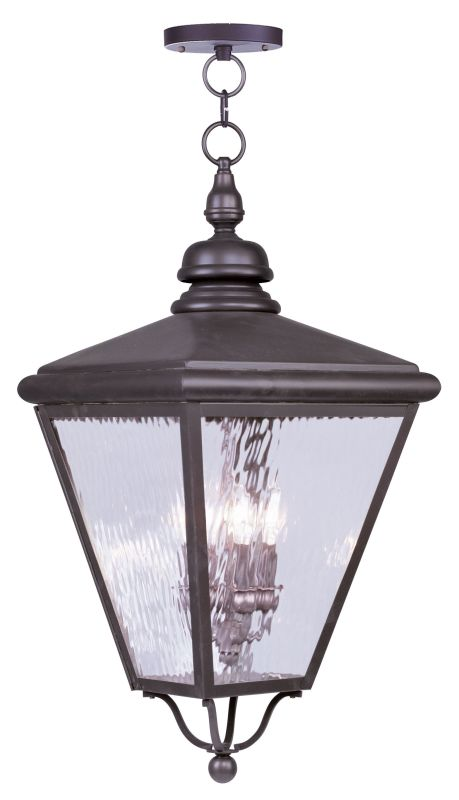 Livex Lighting 2037 Cambridge 4 Light Outdoor Pendant Bronze Outdoor