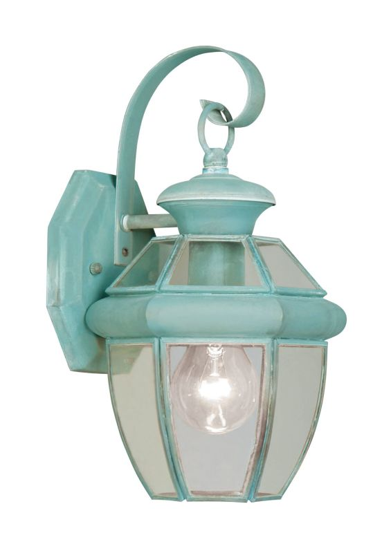 Livex Lighting 2051 Monterey 1 Light Outdoor Wall Sconce Verdigris