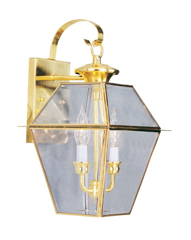 Livex Lighting 2281 Westover 2 Light Outdoor Wall Sconce Polished Sale $179.90 ITEM: bci2307443 ID#:2281-02 UPC: 847284009646 :