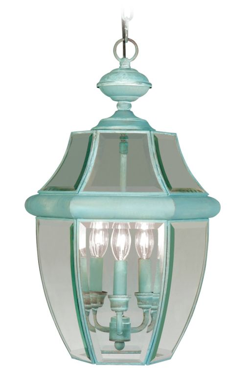 Livex Lighting 2355 Monterey 3 Light Outdoor Pendant Verdigris Outdoor