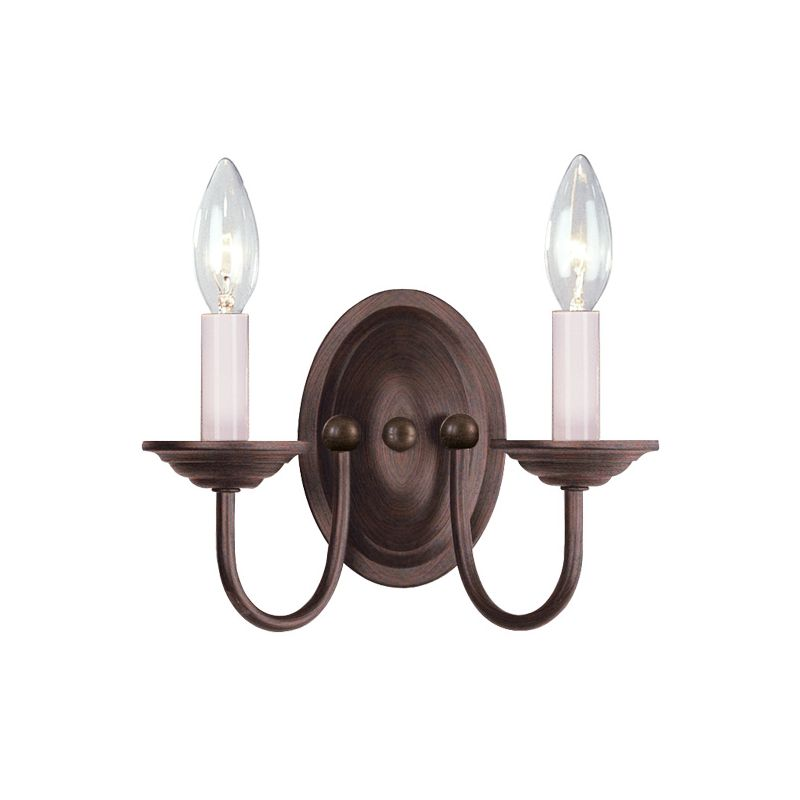 Livex Lighting 4152 Coronado 2 Light Wall Sconce Imperial Bronze
