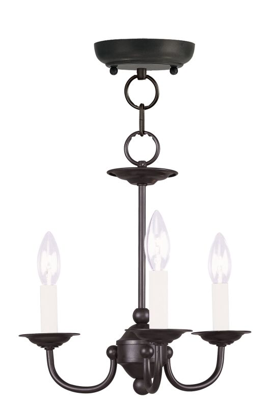 Livex Lighting 4153 Home Basics 3 Light 1 Tier Chandelier Black Indoor Sale $99.90 ITEM: bci2307465 ID#:4153-04 UPC: 847284001121 :