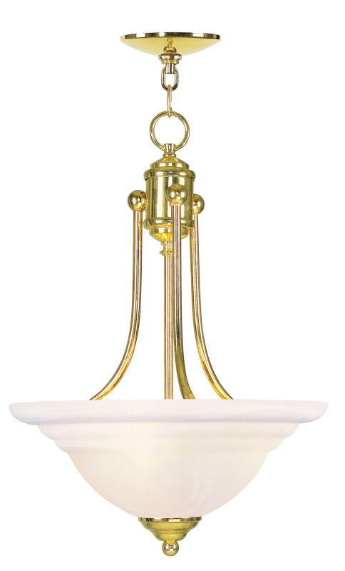 Livex Lighting 4264 North Port 3 Light Pendant Polished Brass Indoor