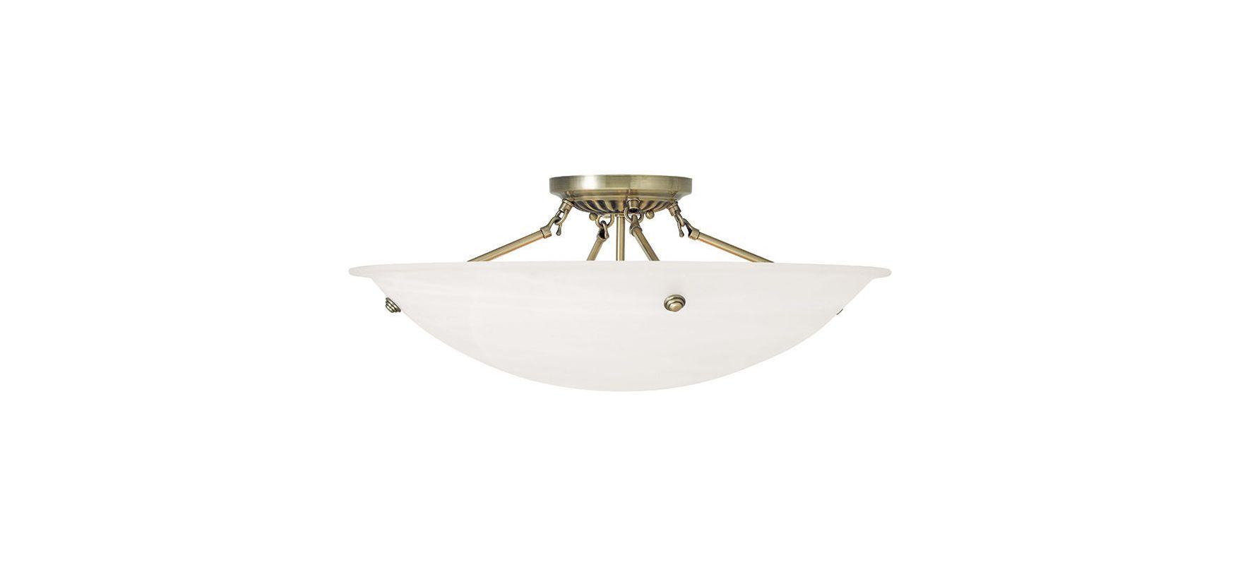 Livex Lighting 4275 Oasis 4 Light Semi-Flush Ceiling Fixture Antique Sale $249.90 ITEM: bci2545524 ID#:4275-01 UPC: 847284043800 :