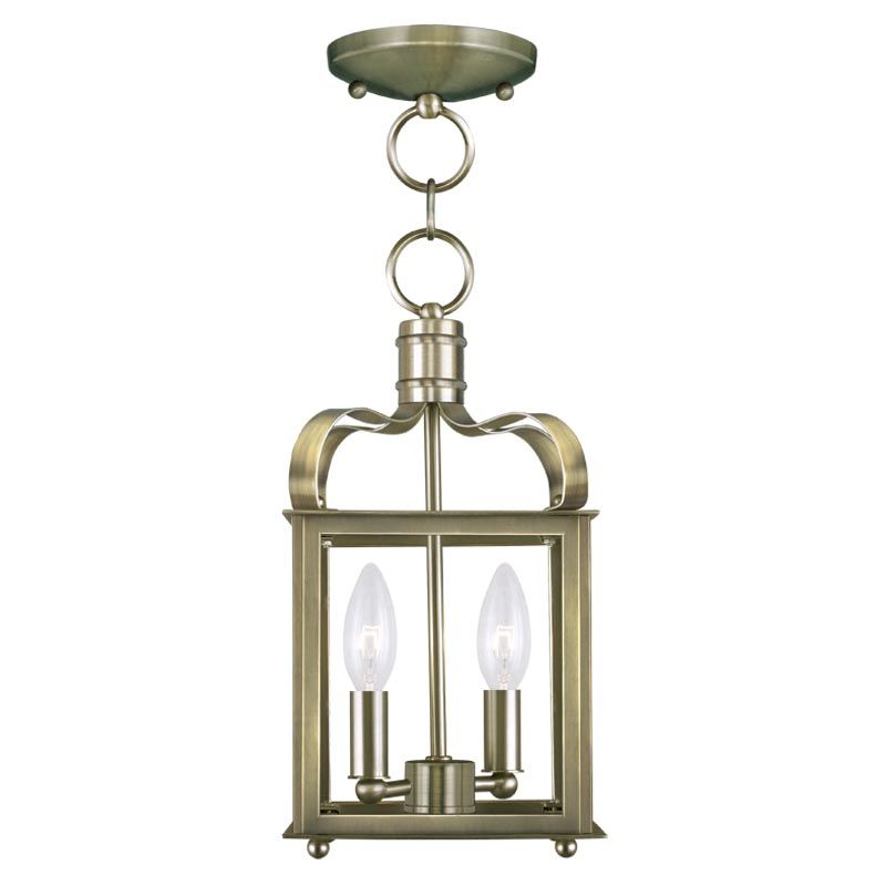 Livex Lighting 4312 Garfield 2 Light Convertible Pendant / Semi-Flush Sale $199.90 ITEM: bci2233115 ID#:4312-01 UPC: 847284037991 :