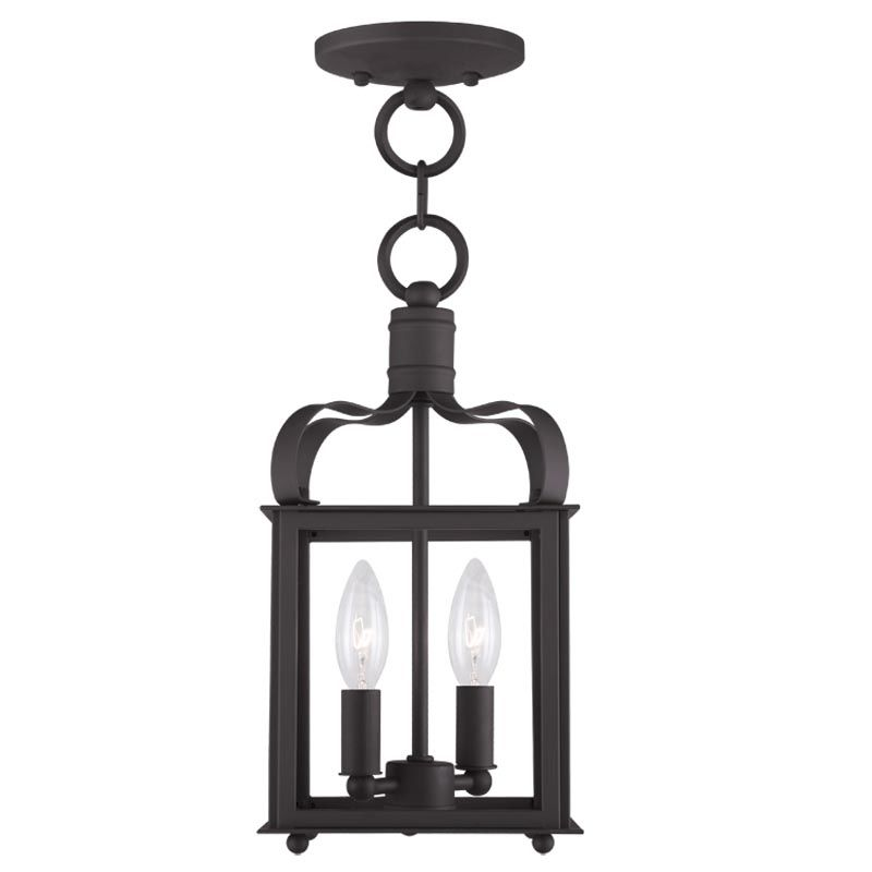 Livex Lighting 4312 Garfield 2 Light Convertible Pendant / Semi-Flush Sale $199.90 ITEM: bci2233116 ID#:4312-07 UPC: 847284034389 :