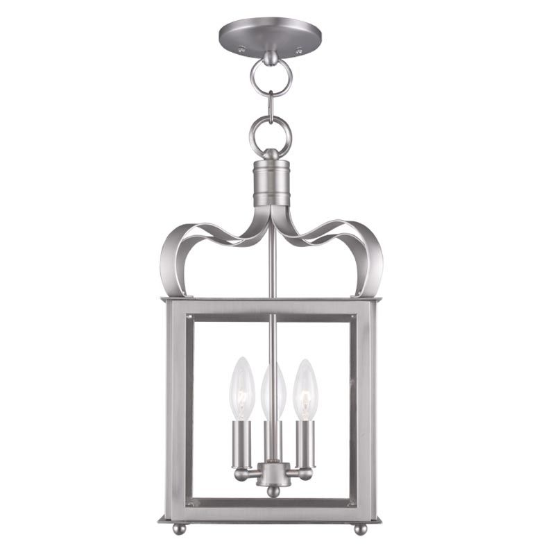 Livex Lighting 4313 Garfield 3 Light Convertible Pendant / Semi-Flush Sale $299.90 ITEM: bci2233120 ID#:4313-91 UPC: 847284034419 :