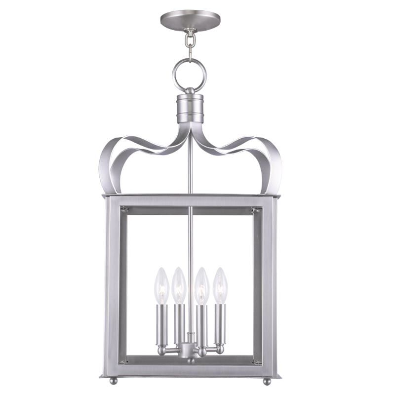 Livex Lighting 4314 Garfield 4 Light Pendant Brushed Nickel Indoor Sale $399.90 ITEM: bci2233123 ID#:4314-91 UPC: 847284034433 :