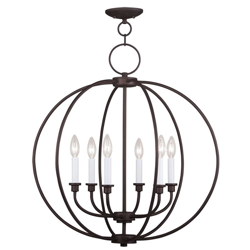 Livex Lighting 4666 Milania 6 Light 1 Tier Chandelier Bronze Indoor