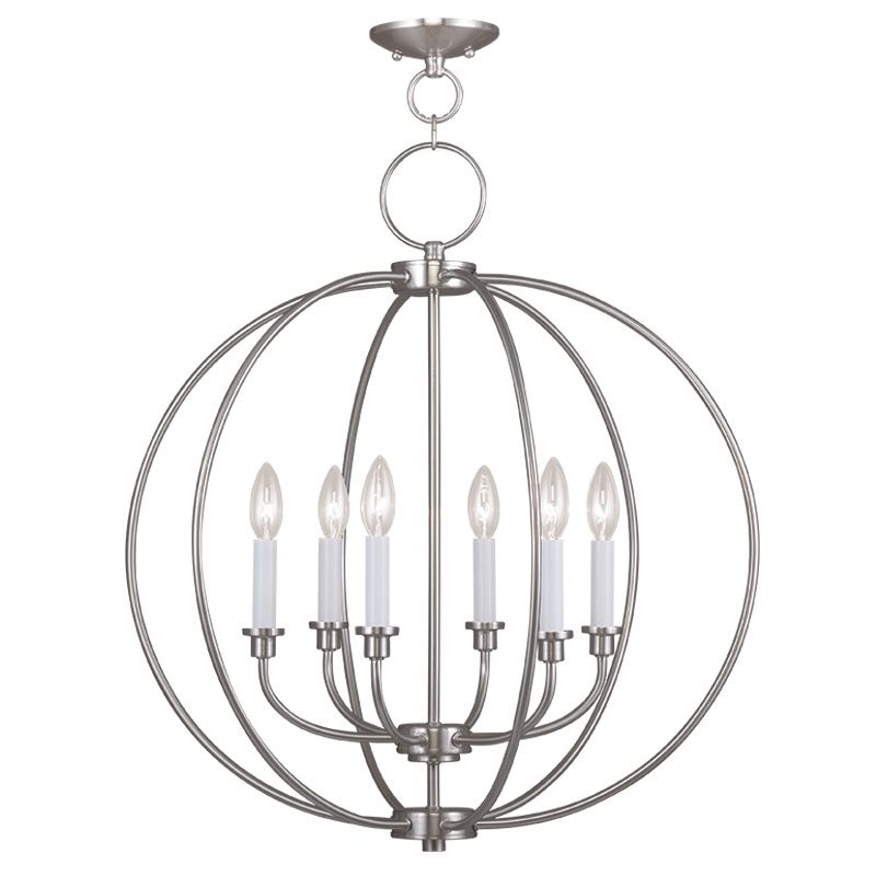 Livex Lighting 4666 Milania 6 Light 1 Tier Chandelier Brushed Nickel
