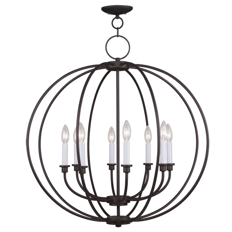 Livex Lighting 4668 Milania 8 Light 1 Tier Chandelier Bronze Indoor