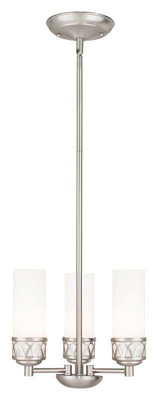 Livex Lighting 47194 Westfield 3 Light 1 Tier Mini Chandelier Brushed