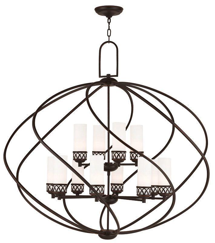Livex Lighting 47199 Westfield 12 Light 2 Tier Chandelier Olde Bronze