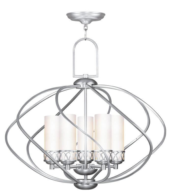 Livex Lighting 4725 Westfield 5 Light 1 Tier Chandelier Brushed Nickel