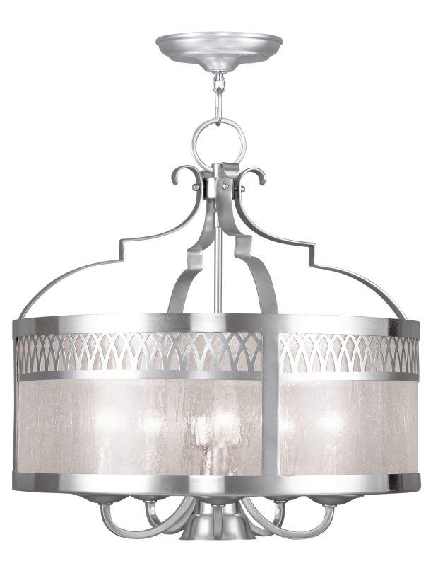 Livex Lighting 4735 Westfield 6 Light 1 Tier Chandelier Brushed Nickel