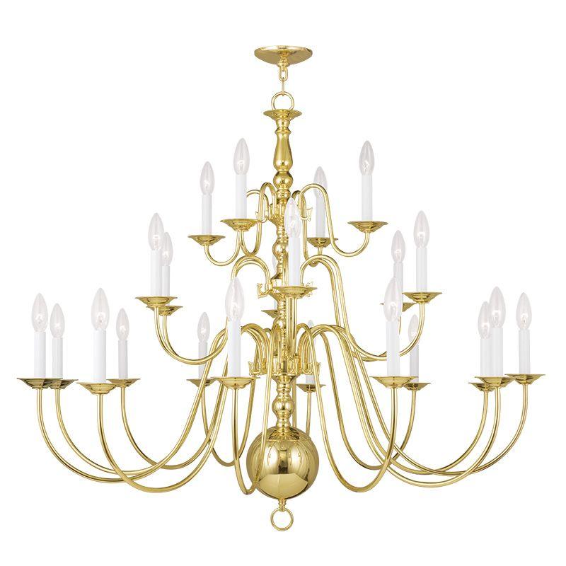 Livex Lighting 5015 Williamsburg 22 Light 3 Tier Chandelier Polished Sale $999.90 ITEM: bci2233168 ID#:5015-02 UPC: 847284036659 :