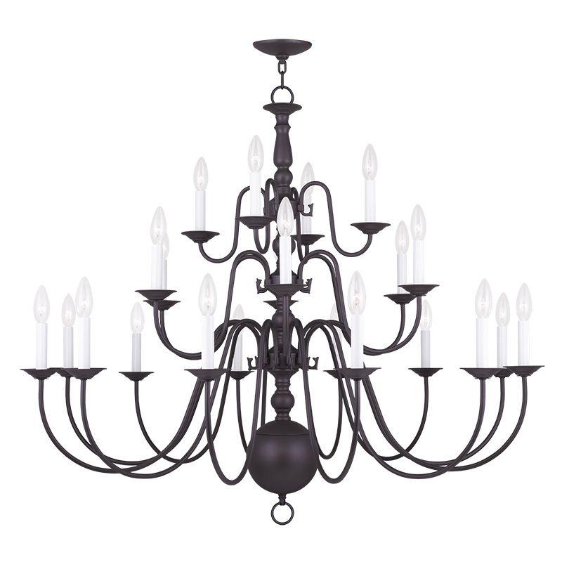 Livex Lighting 5015 Williamsburg 22 Light 3 Tier Chandelier Bronze