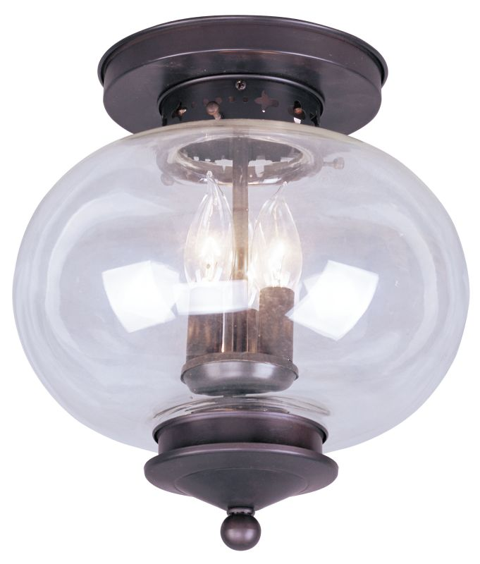 Livex Lighting 5033 Harbor 3 Light Semi-Flush Ceiling Fixture Bronze