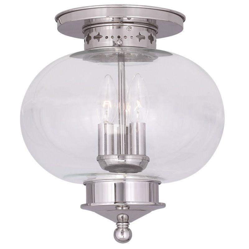 Livex Lighting 5033 Harbor 3 Light Semi-Flush Ceiling Fixture Polished